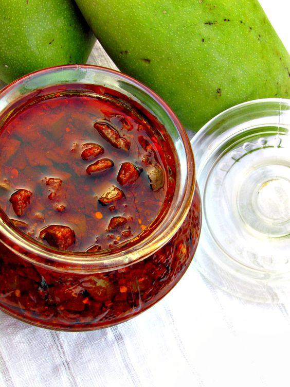 Mango Pickle - Maangai Oorugai by sarasyummybites