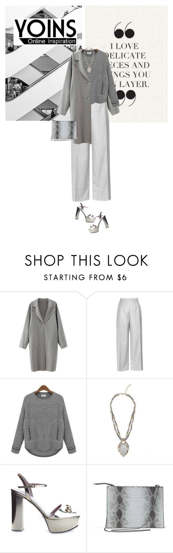"""Untitled #588"" by tamara-40 ❤ liked on Polyvore featuring Carven, Gucci, fashionset, yoins and yoinscollection"