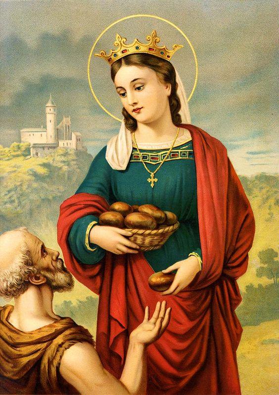 theraccolta:  Heilige Elisabeth von Thüringen Schutzpatronin