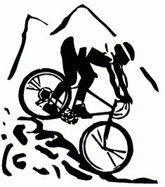 Bike Clipart Black And White - info