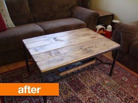 Before \ After IKEA Granas Table Gets a Rustic Makeover Metal - k amp uuml che landhaus modern