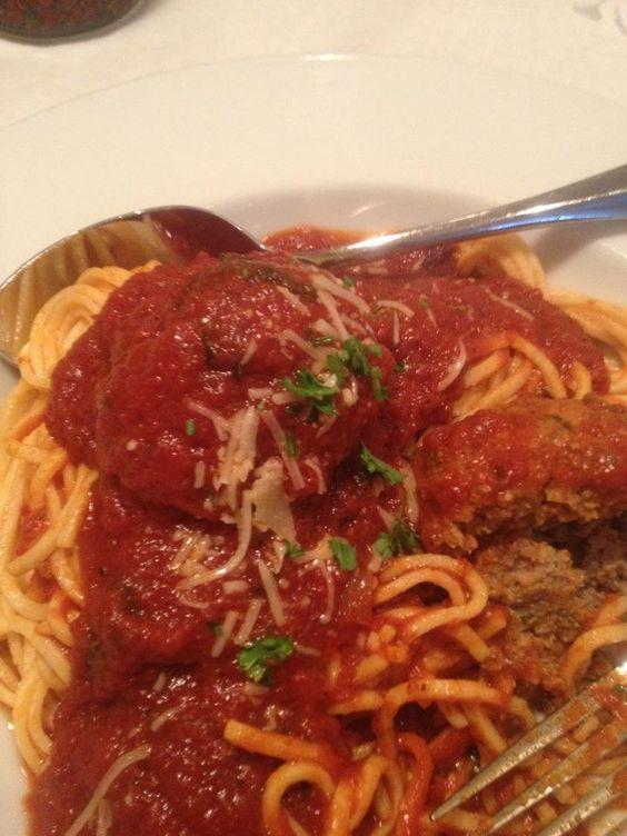 Spaghetti and homemade meatballs!