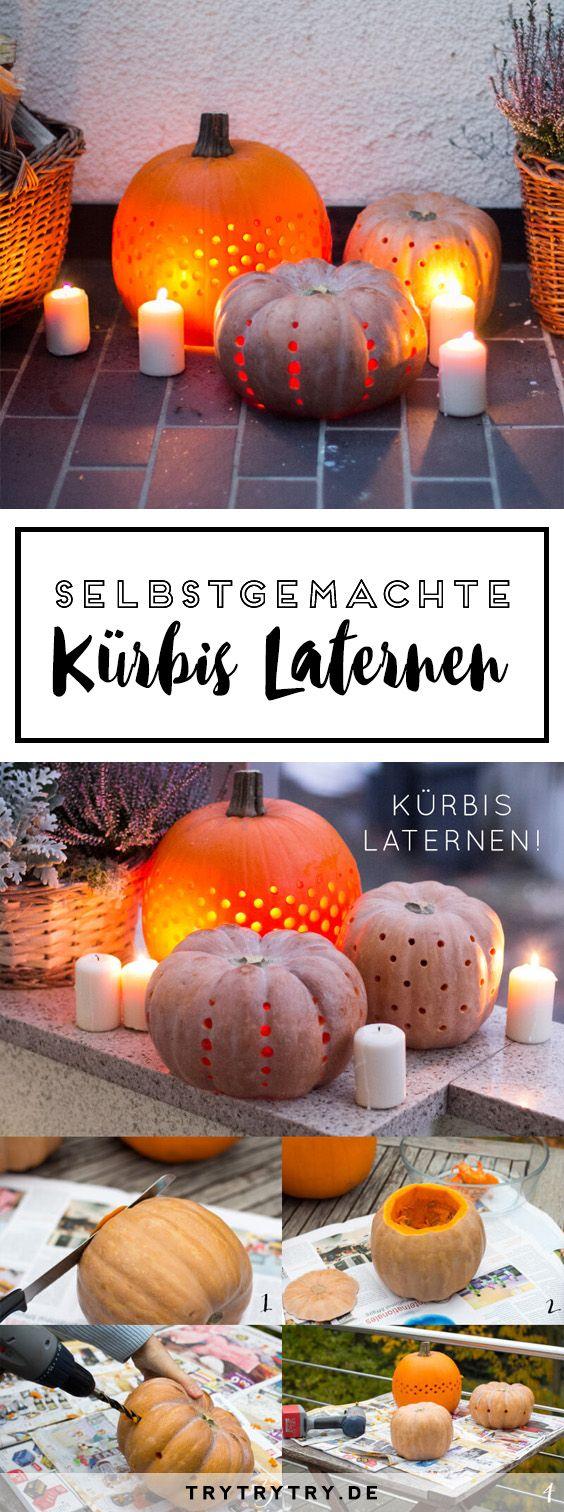 Selbstgemachte Kürbis Laternen - Schönes DIY für den Herbst und Halloween