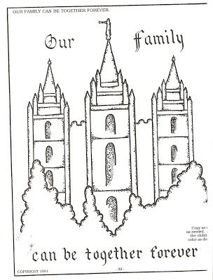 LDS Temple Coloring Pages LDS