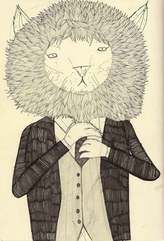 'Lion in a suit' David Litchfield
