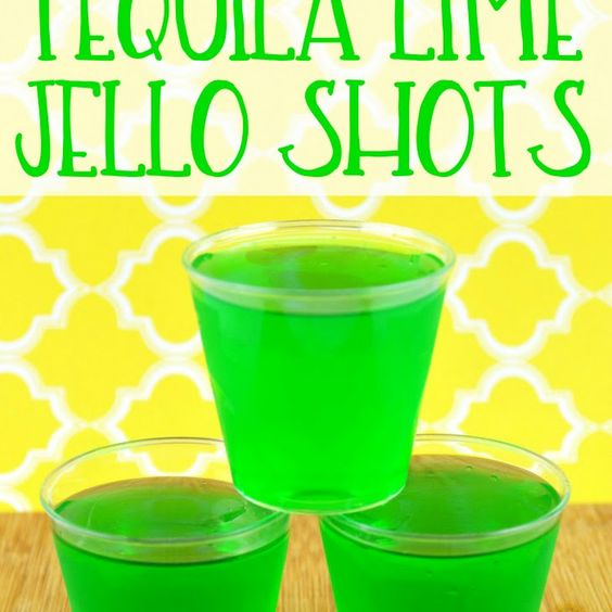 Tequila lime jello shots recipe beverages cocktails with for Best tequila shot recipes