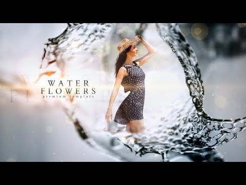 After Effects Template Water Flower Slideshow
