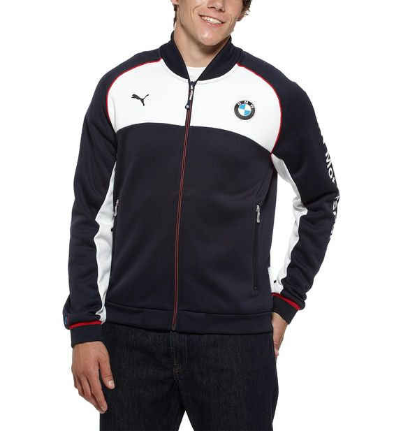Bmw puma hoodie puma bmw bonded jacket trendy for Mercedes benz tracksuit