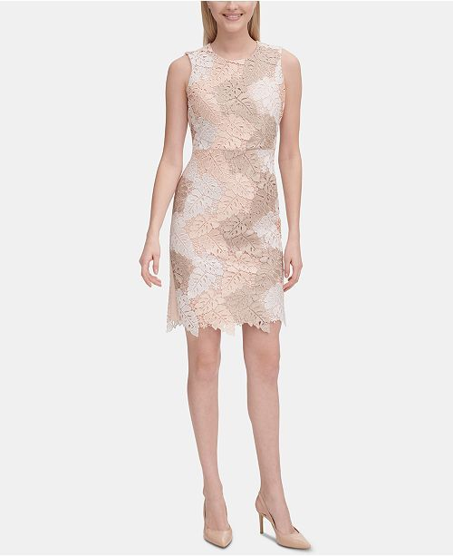 47+ Calvin klein sequined lace sheath dress trends