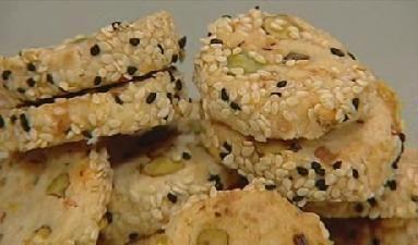 Pistachio Kashkaval cookies, Karin Goren