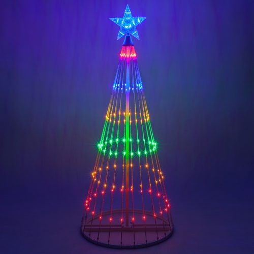 Multicolor Led Animated Outdoor Lightshow Tree Mundyshops Christmas Light Installation Christmas Light Show Outdoor Christmas Lights