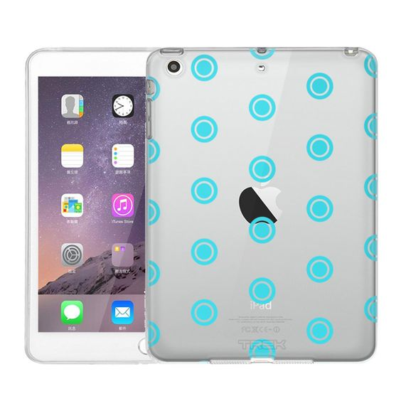 Apple iPad Mini Round Turquoise Dots Case