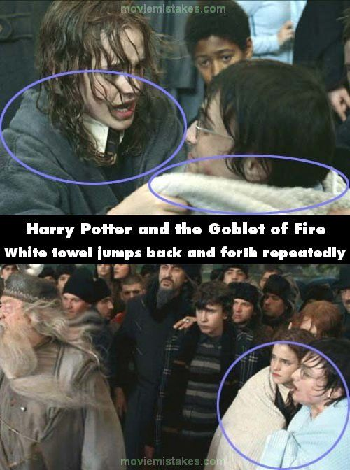 White Towel - Top 15 biggest Harry Potter film mistakes