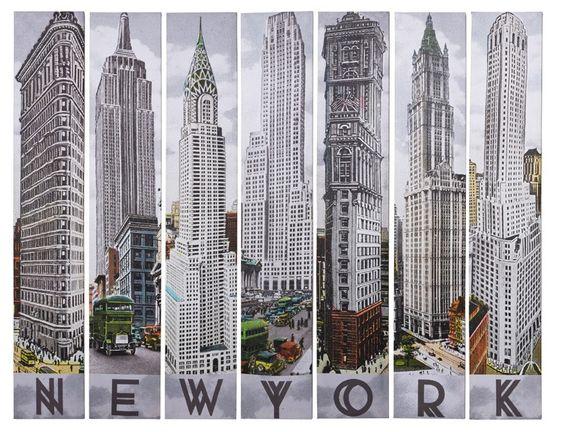 nyc architecture | New York Architecture 7er Bilder Set von Kare Design bei SalesFever.de
