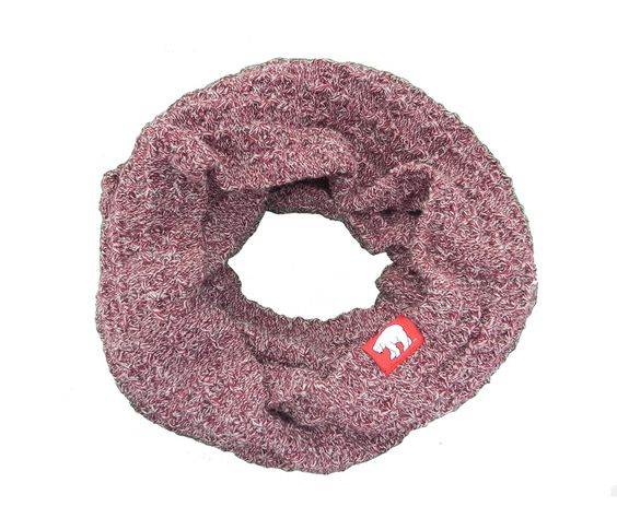 Circle Of Warmth – Marled Burgundy Chunky Knit Infinity Scarf