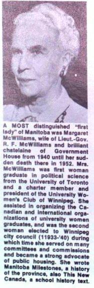 MARGARET McWILLIAMS