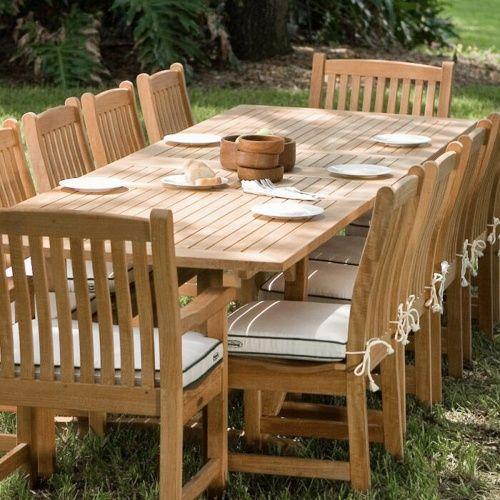 13 Pc Grand Veranda Teak Dining Set Teak Outdoor Furniture Teak Furniture Set Teak Patio Furniture