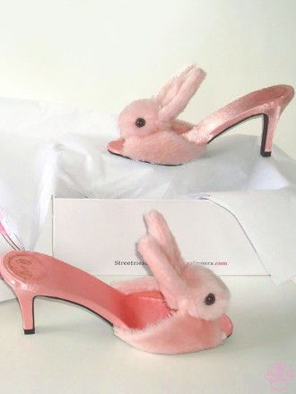Streetzie's High Heel Bunny Slippers Oh, My ... Adore...