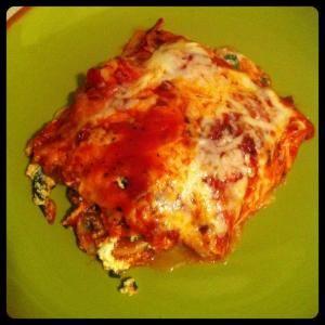 Spinach and Mushroom Lasagna...Cheesy and Healthy!