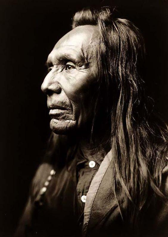 Nez Perce Warrior -  taken in 1910 by Edward S. Curtis.