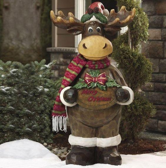 Funny Indoor Christmas Decorations : Indoor outdoor moose and christmas decorations on