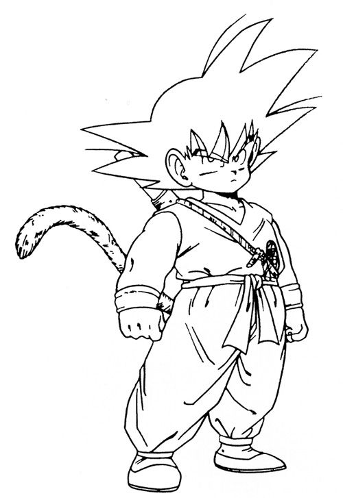 Dibujos Para Colorear Goku Fase 4 Dibujo De Goku Como Dibujar A Goku Dibujos De Dragon
