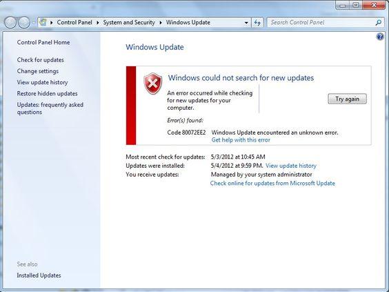 Résoudre les problèmes d'installation mise a jour de Windows