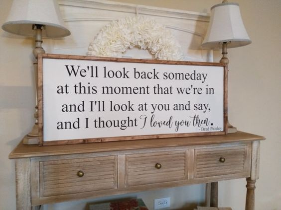 Brad Paisley Lyrics Sign  Country Song by WanderingHeartSigns