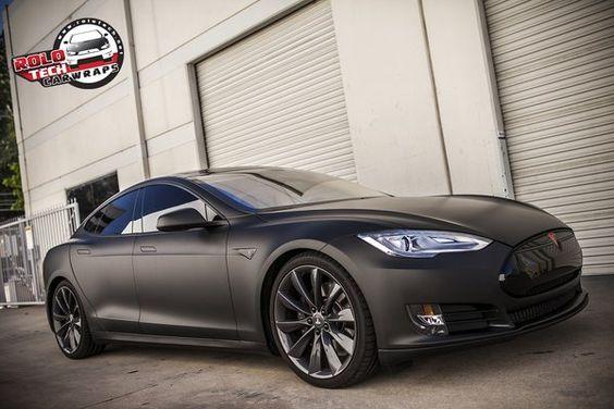 matte black Tesla