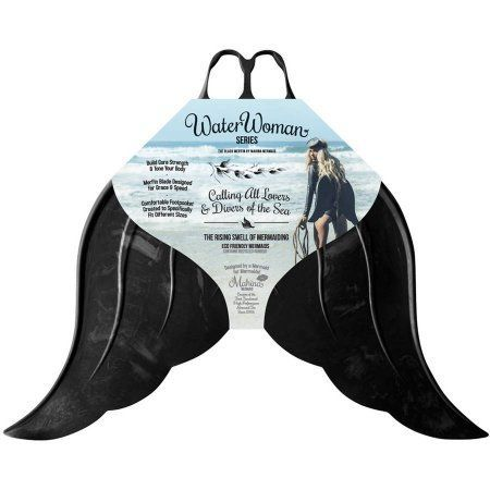 Mahina Mermaid Merfin Adult Water Woman Series Swimming Fin, Adult Medium, Black