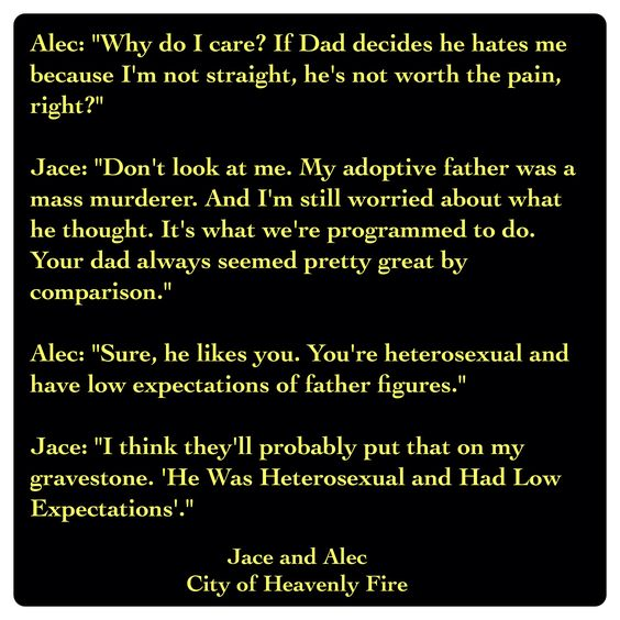 Jace Lightwood and Alec Lightwood (City of Heavenly Fire ...