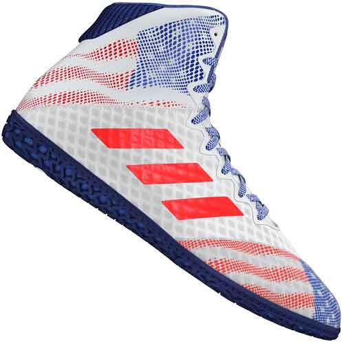 adidas Mens Mat Wizard 4 Wrestling Shoes Black Sports Gym Breathable