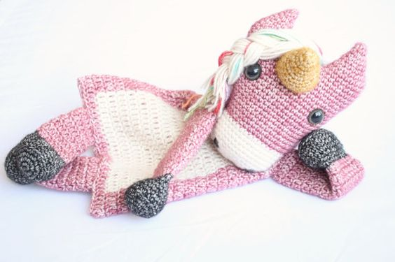 Horse or Unicorn Ragdoll crochet amigurumi pattern por AlaSascha