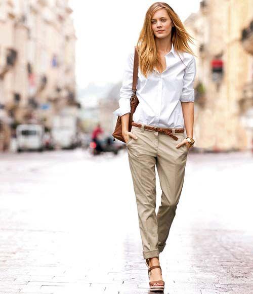 30 υπέροχοι συνδυασμοί με ένα λευκό πουκάμισο - Beauté την Κυριακή