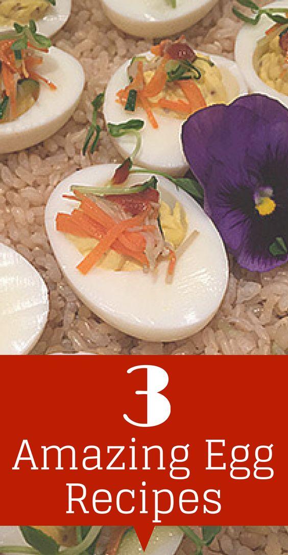 3 ways to put eggs back on the menu! #healthyrecipes