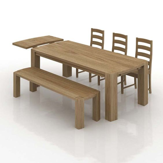 Chunky Solid Oak Dining Table with Extension Leaf with Free Delivery £749  http://www.hip-furniture.co.uk/prod_show.asp?prodid=8490