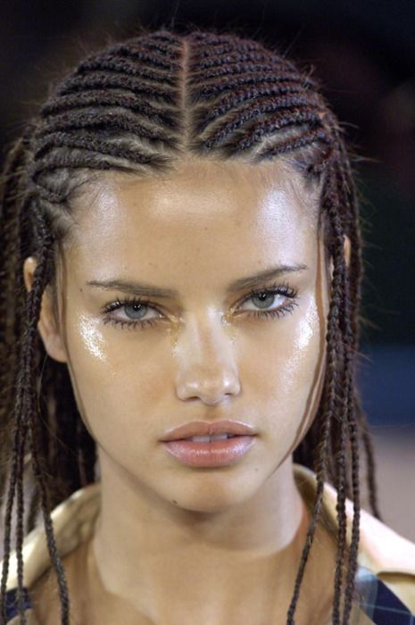 Adriana Lima - love her look with those sexy braids.