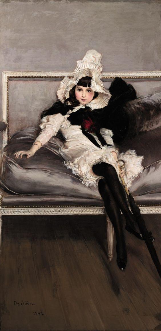 Portrait of Giovinetta Errazuriz, by Giovanni Boldini, 1892: