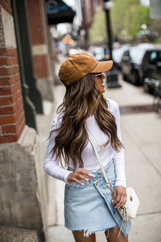 Whether it's getting around town with day 3 hair or going for an early morning run, there's plenty of reasons to wear a baseball cap. Here's how to style it. {Fashion blogger mia mia mine wearing agolde skirt, golden goose leopard sneakers, carhartt x 47 baseball cap, ny baseball cap} #casualstyle #casualfashion #baseballcap