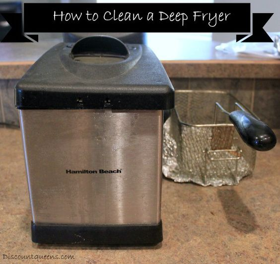 I have a love hate relationship with my deep fryer. I love the yummy goodies that come frying out of it but I hate the crusty mess that the old oil leaves behin