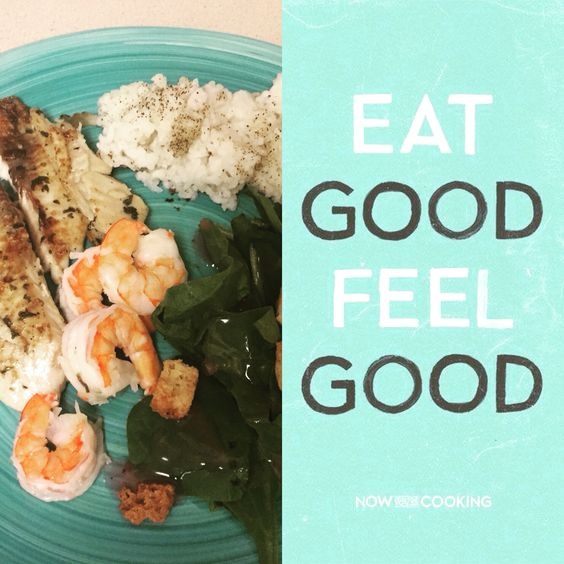 #eatgood#feelgood Tilapia,shrimp,and spinach salad!   It all starts in the kitchen! Join my fitness accountability group for more recipes, fitness tips, accountability and more!   https://www.facebook.com/groups/Befitwithchrystal/