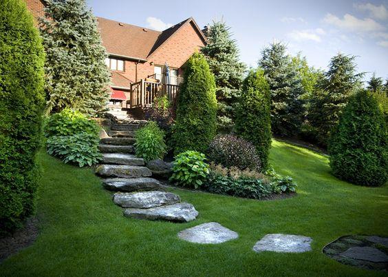 Am nagement paysager r sidentiel confort meraude jardin talus pentu murs - Amenagement exterieur 3d ...