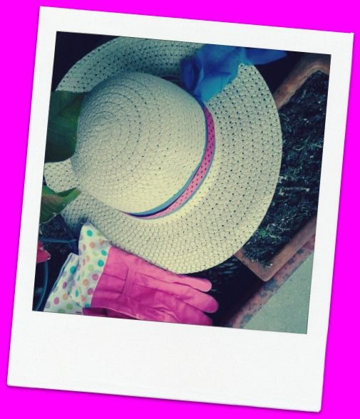 Garden Hat and Gloves: