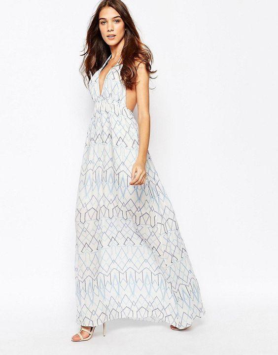 Pin for Later: 79 Robes Longues Super Confort Pour Cet Été  BCBGMAXAZRIA Maxi robe en dentelle crochetée - Combo blanc (437€)