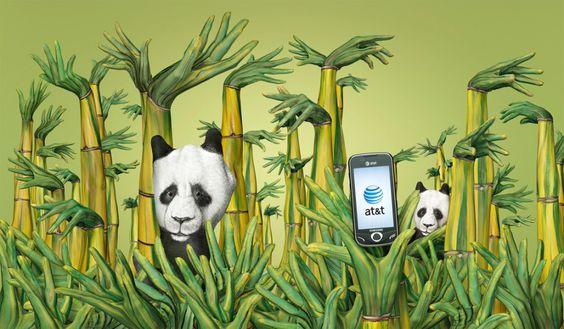 Guido Daniele – Hand Painting Advertising (Pandas) #photography #inspiration #art #illustration #advertising