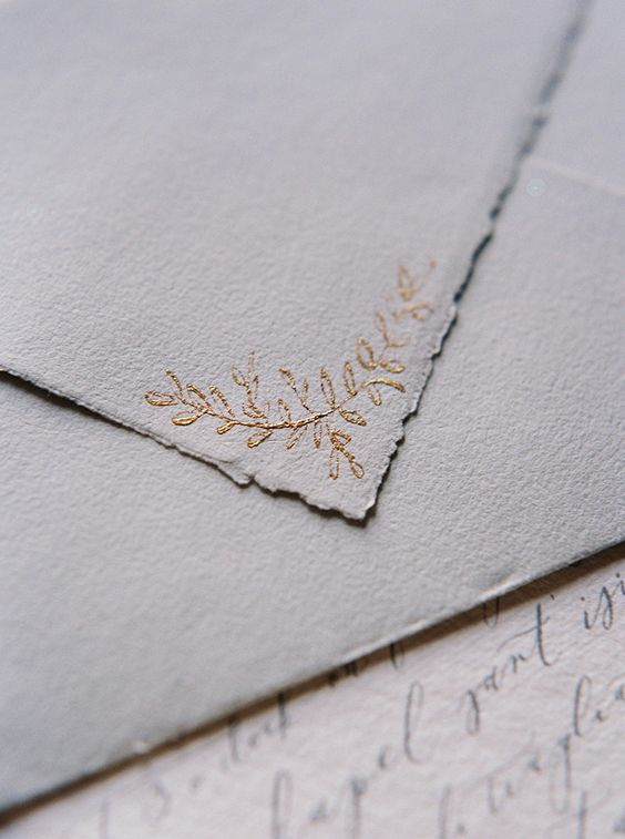 Wedding invitation envelope details