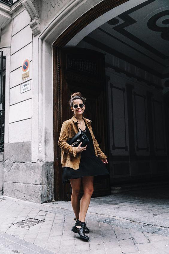 Camisa de camurça Vs Vestido curto . Visite o SimplesModa, um blog e revista de moda em Português.
