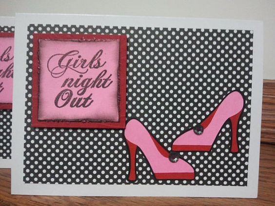 Girls Night Out InvitationsSet of 8 by BitsNPiecesGifts on Etsy, $10.00