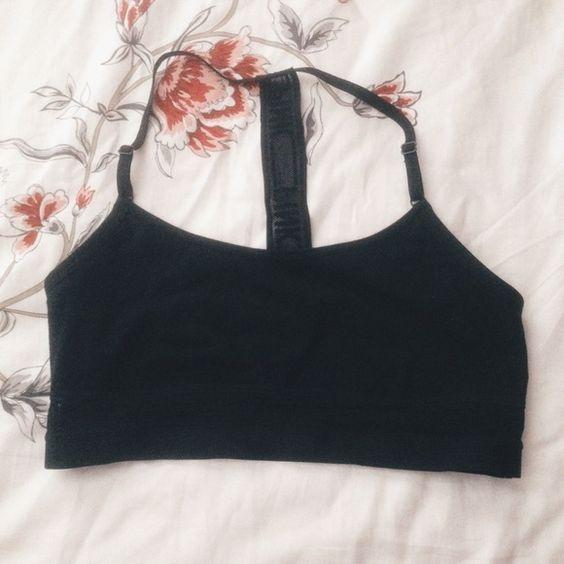 PINK Mesh T-Back Logo Bralette Medium • No flaws • Mesh band for chest & back • No longer sold in stores! PINK Victoria's Secret Intimates & Sleepwear Bras