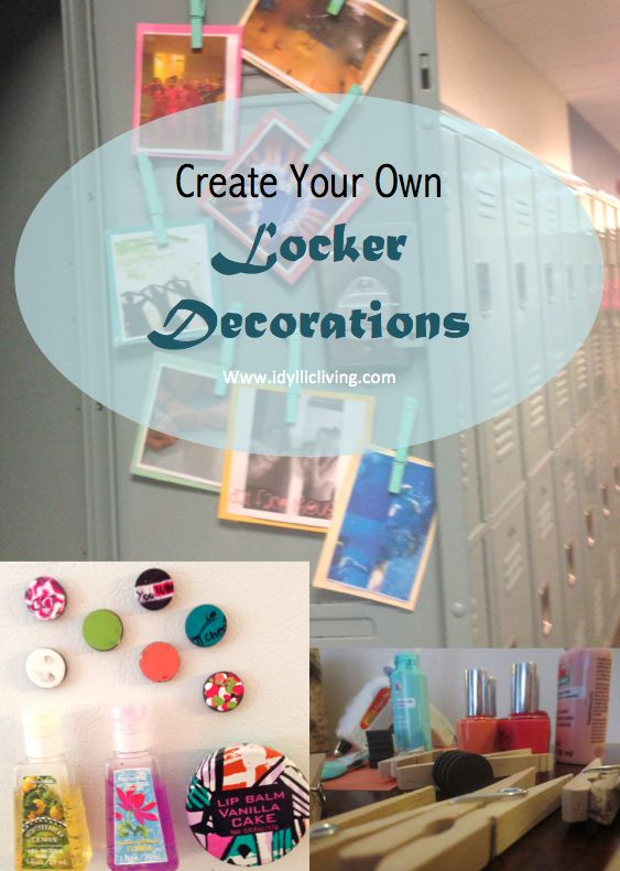 Locker decorations lockers and create your own on pinterest for How to make your own ornaments ideas